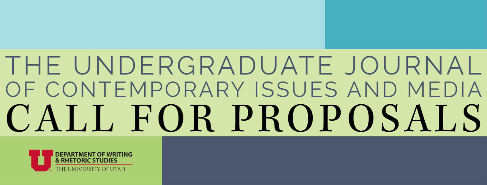 The Undergraduate Journal  of Contemporary Issues and Media: Call for Proposals